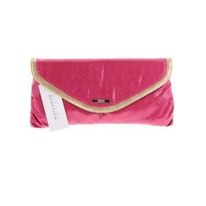 Kenneth Cole Reaction Snakeskin Clutch NWT Pink